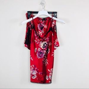 Gilligan & Omalley Red Floral PJ Set Size XXL
